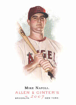 2007 Topps Allen and Ginter #206 Mike Napoli