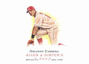 2007 Topps Allen and Ginter #211 Orlando Cabrera