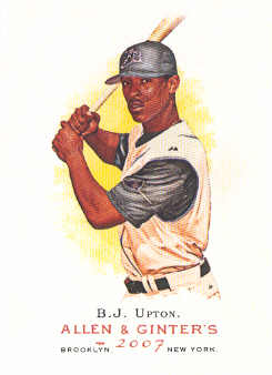 2007 Topps Allen and Ginter #212 B.J. Upton