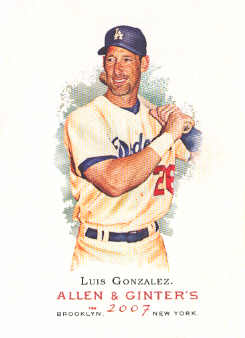 2007 Topps Allen and Ginter #215 Luis Gonzalez
