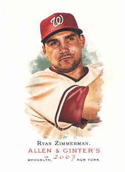 2007 Topps Allen and Ginter #220 Ryan Zimmerman