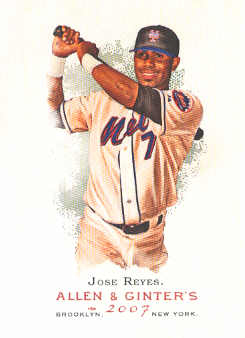 2007 Topps Allen and Ginter #230 Jose Reyes