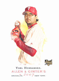2007 Topps Allen and Ginter #236 Yoel Hernandez RC