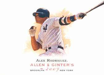 2007 Topps Allen and Ginter #270 Alex Rodriguez