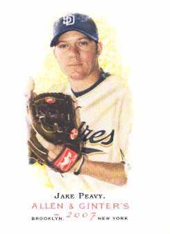 2007 Topps Allen and Ginter #295 Jake Peavy