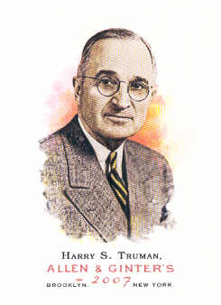 2007 Topps Allen and Ginter #298 Harry S. Truman