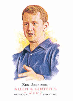 2007 Topps Allen and Ginter #319 Ken Jennings SP