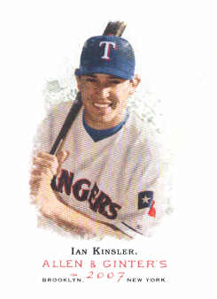 2007 Topps Allen and Ginter #324 Ian Kinsler