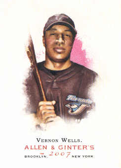 2007 Topps Allen and Ginter #329 Vernon Wells