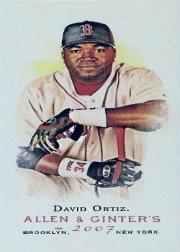2007 Topps Allen and Ginter Mini #100 David Ortiz