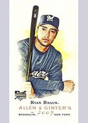 2007 Topps Allen and Ginter Mini #116 Ryan Braun