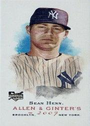 2007 Topps Allen and Ginter Mini A and G Back #57 Sean Henn