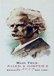 2007 Topps Allen and Ginter Mini A and G Back #108 Mark Twain