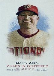 2007 Topps Allen and Ginter Mini A and G Back #144 Manny Acta