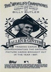 2007 Topps Allen and Ginter Mini A and G Back #147 Billy Butler back image