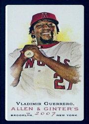 2007 Topps Allen and Ginter Mini Black #20 Vladimir Guerrero