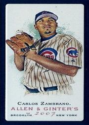 2007 Topps Allen and Ginter Mini Black #45 Carlos Zambrano