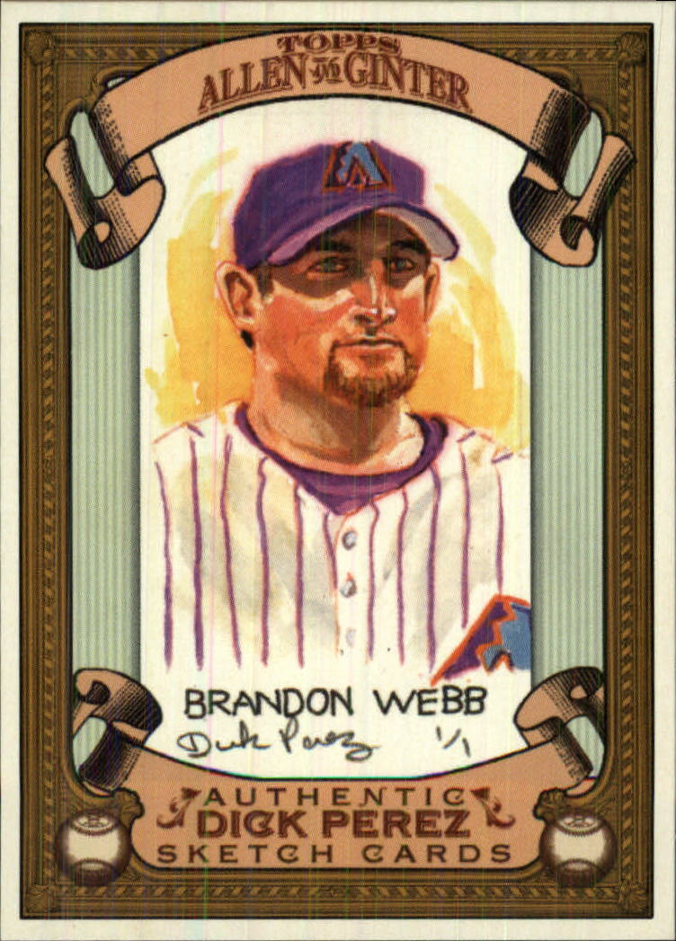 2007 Topps Allen and Ginter Dick Perez #1 Brandon Webb front image