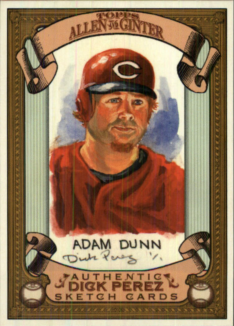 2007 Topps Allen and Ginter Dick Perez #7 Adam Dunn