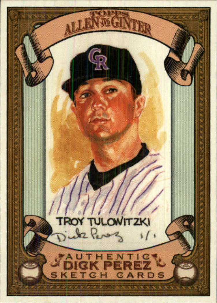 2007 Topps Allen and Ginter Dick Perez #9 Troy Tulowitzki