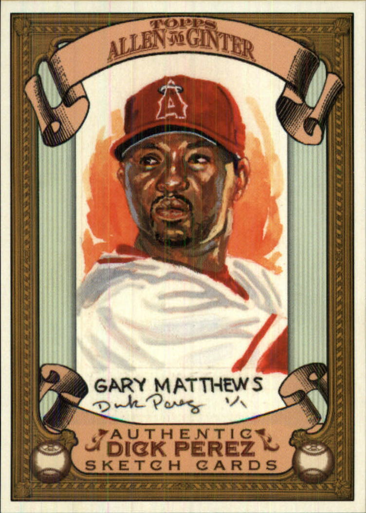 2007 Topps Allen and Ginter Dick Perez #14 Gary Matthews