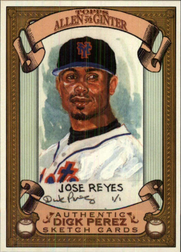2007 Topps Allen and Ginter Dick Perez #18 Jose Reyes