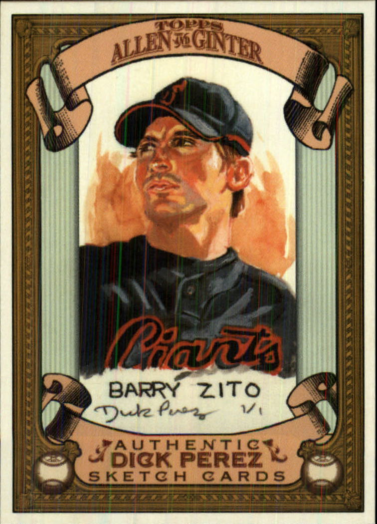 2007 Topps Allen and Ginter Dick Perez #25 Barry Zito