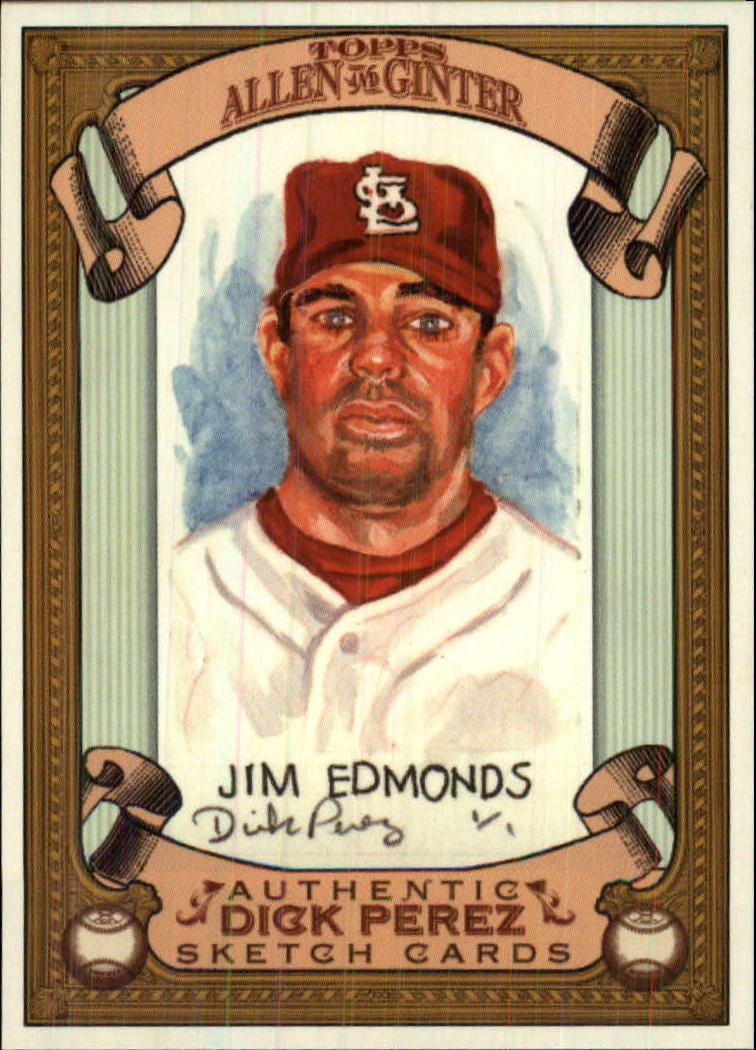 2007 Topps Allen and Ginter Dick Perez #26 Jim Edmonds