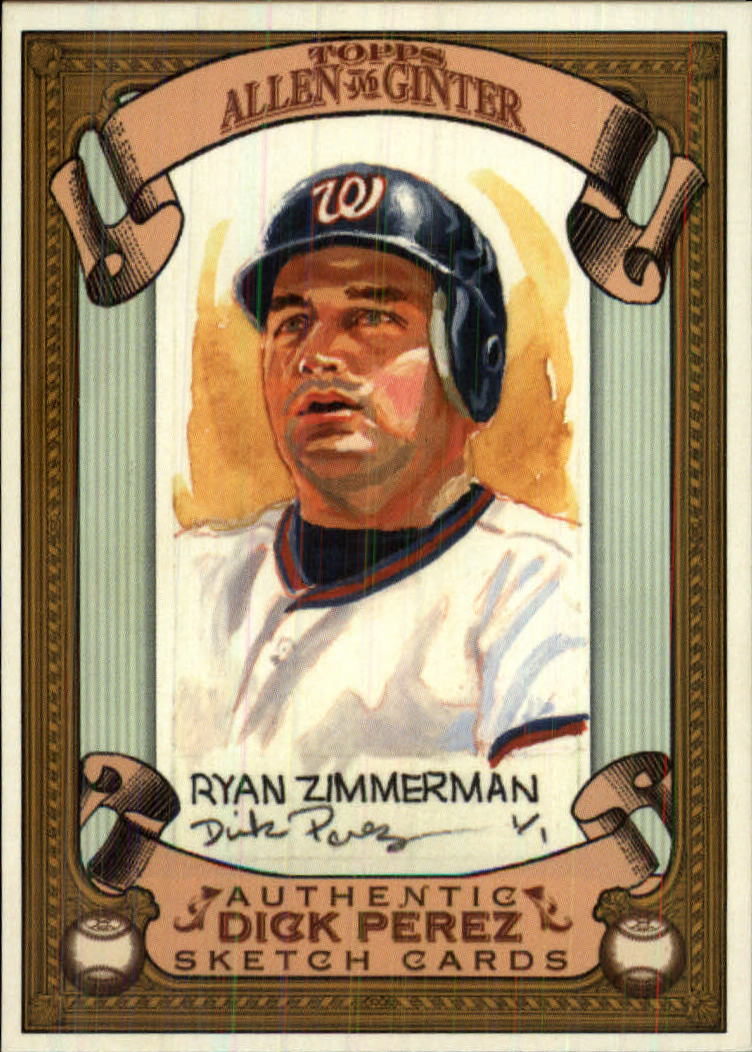 2007 Topps Allen and Ginter Dick Perez #30 Ryan Zimmerman