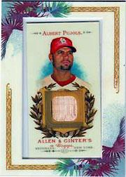 2007 Topps Allen and Ginter Relics #AP Albert Pujols Bat E