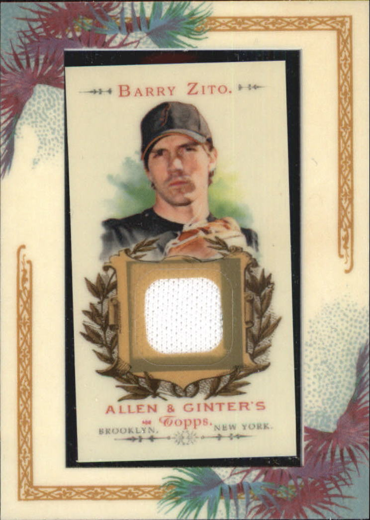 2007 Topps Allen and Ginter Relics #BZ Barry Zito Pants J