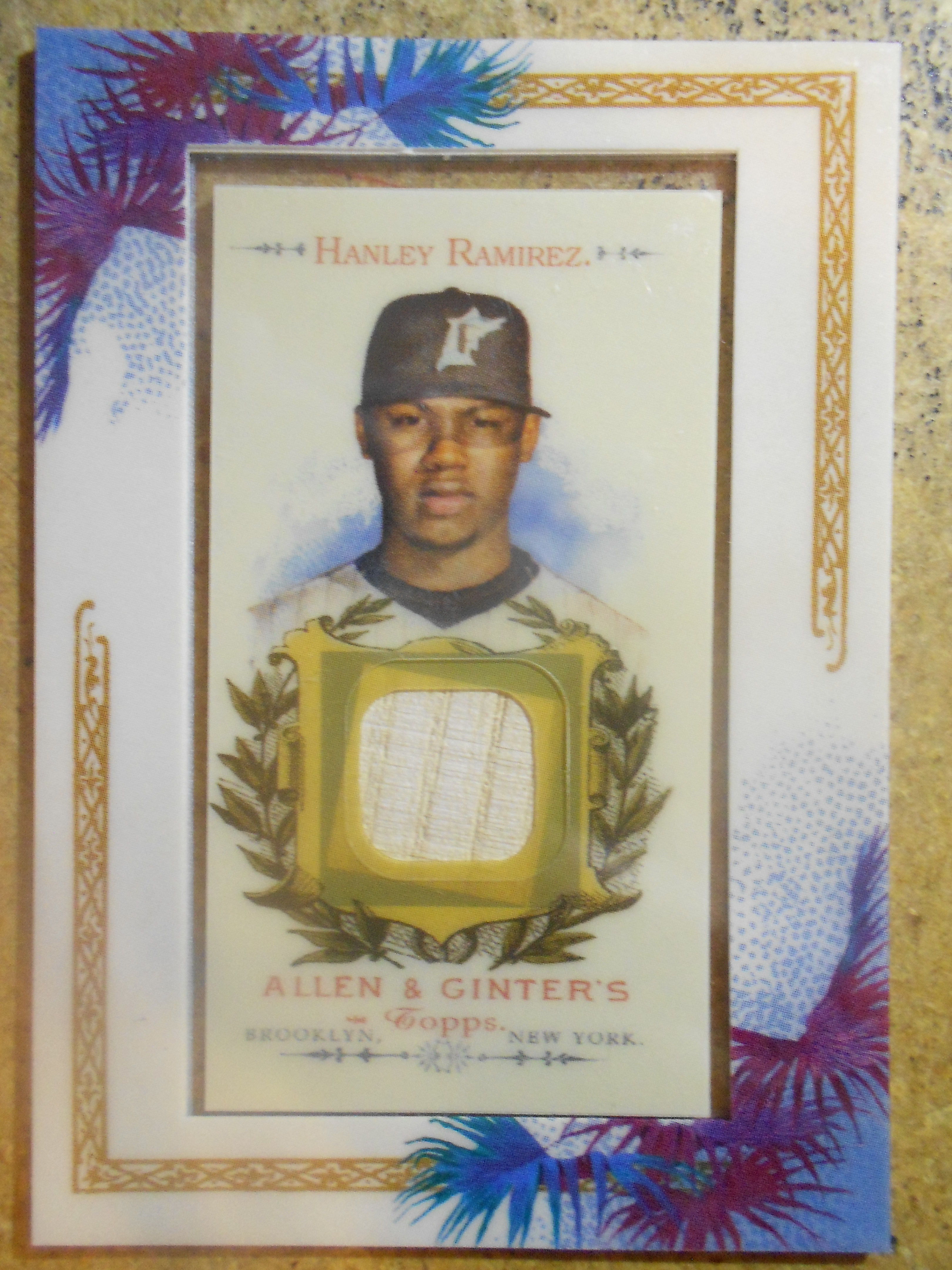 2007 Topps Allen and Ginter Relics #HR Hanley Ramirez Bat G
