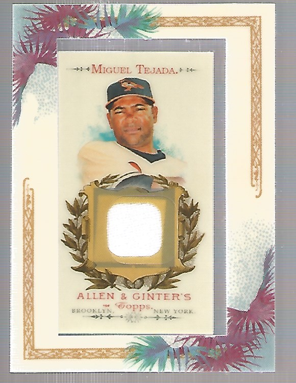 2007 Topps Allen and Ginter Relics #MT Miguel Tejada J