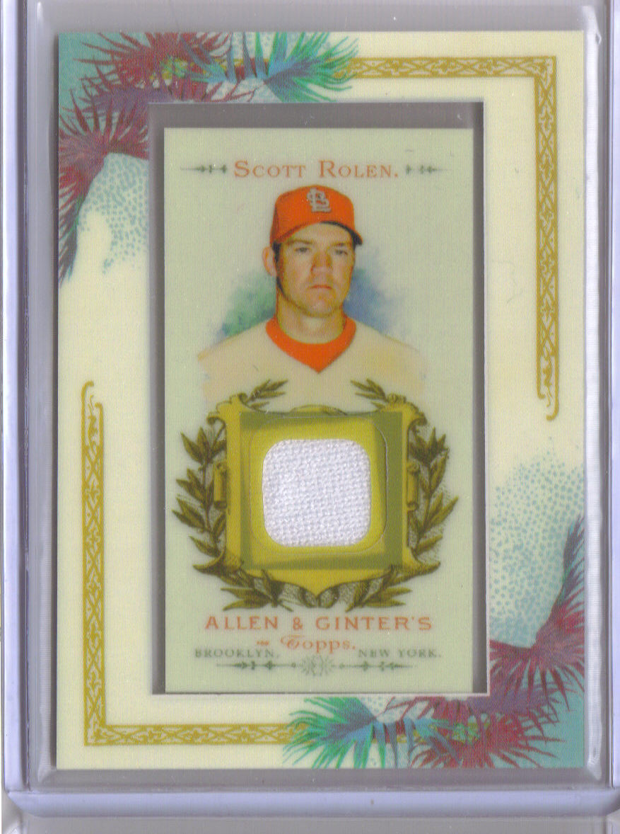 2007 Topps Allen and Ginter Relics #SR1 Scott Rolen G