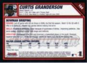 2007 Bowman Chrome #164 Curtis Granderson back image