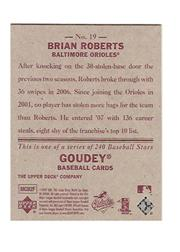 2007 Upper Deck Goudey Red Backs #19 Brian Roberts back image