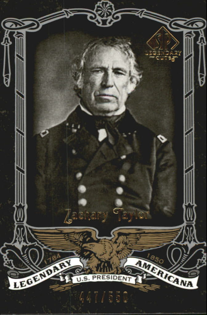 2007 SP Legendary Cuts Legendary Americana #60 Zachary Taylor