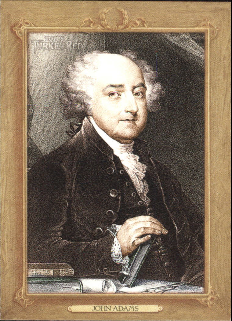 2007 Topps Turkey Red Presidents #TRP2 John Adams