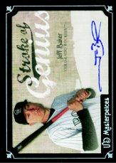2007 UD Masterpieces Stroke of Genius Signatures #JB Jeff Baker
