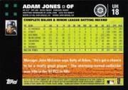 2007 Topps Update #18 Adam Jones back image
