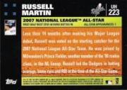 2007 Topps Update #223 Russell Martin back image