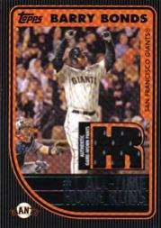 2007 Topps Update Barry Bonds 756 Relic #HRKR Barry Bonds