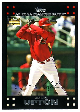 2007 Topps Update Red Back #327 Justin Upton