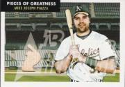 2007 Bowman Heritage Pieces of Greatness #MP Mike Piazza Bat E