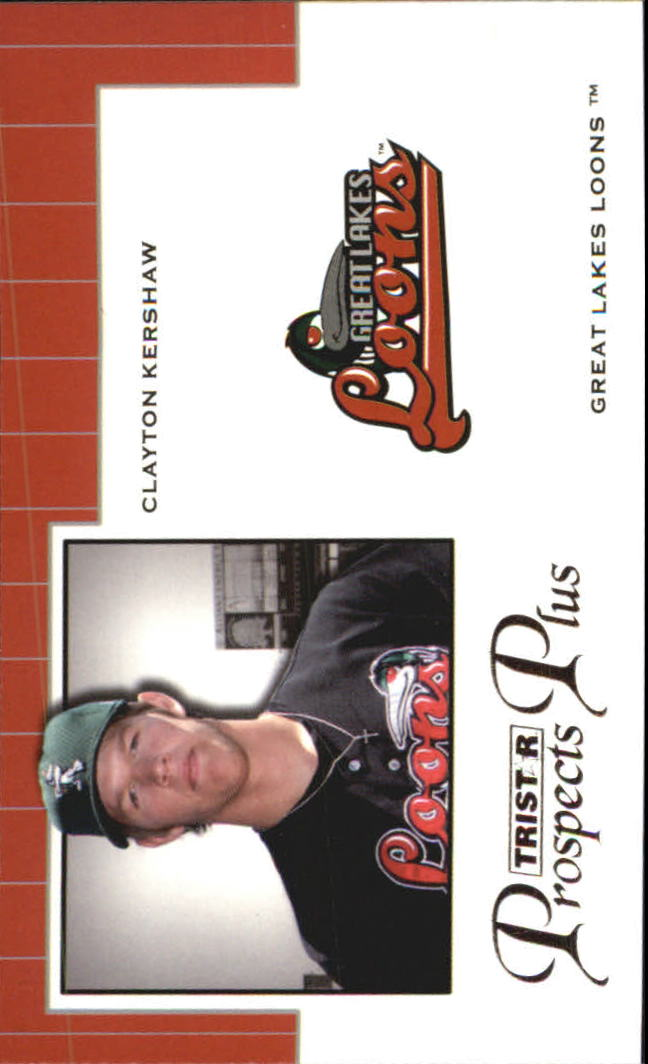 2007 TRISTAR Prospects Plus Protential #CK Clayton Kershaw