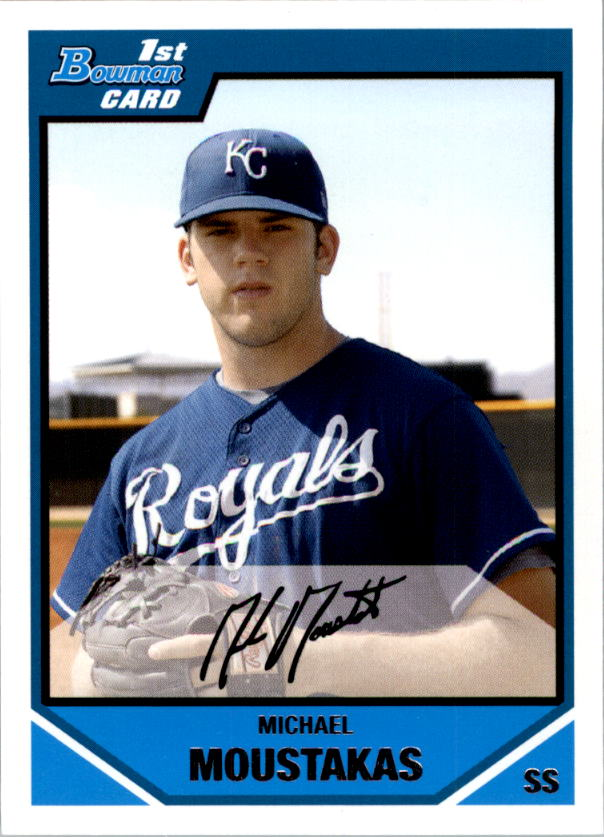 2007 Bowman Draft Draft Picks #BDPP53 Michael Moustakas
