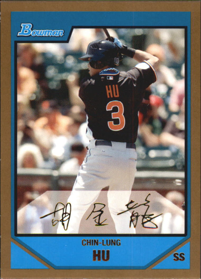 2007 Bowman Draft Future's Game Prospects Gold #BDPP92 Chin-Lung Hu
