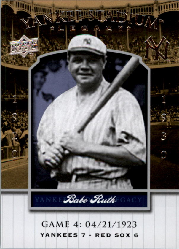 2008 Upper Deck Yankee Stadium Legacy Collection #4 Babe Ruth