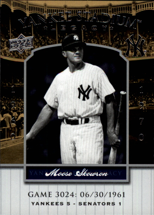 2008 Upper Deck Yankee Stadium Legacy Collection #3024 Moose Skowron