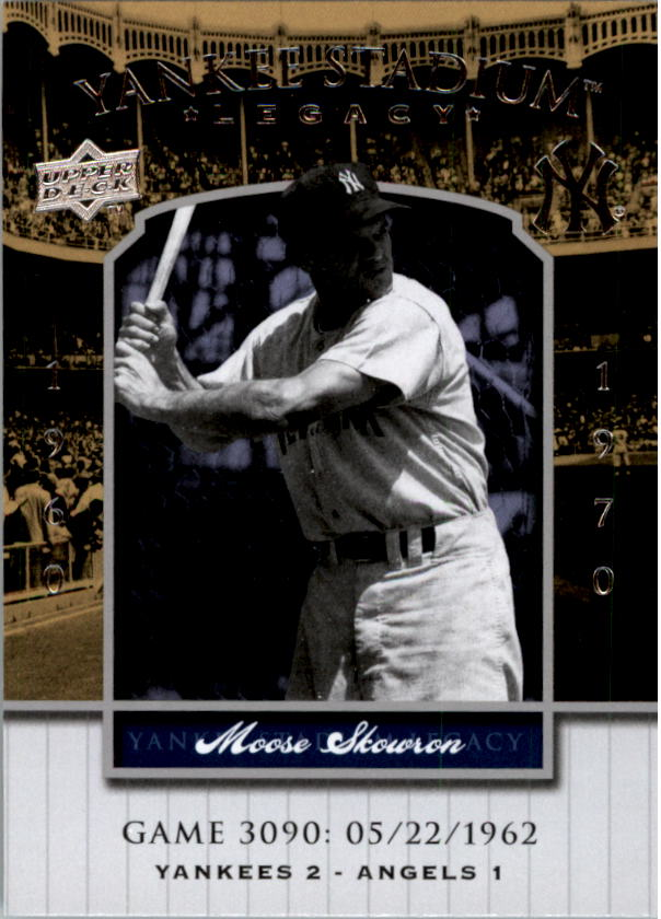 2008 Upper Deck Yankee Stadium Legacy Collection #3090 Moose Skowron